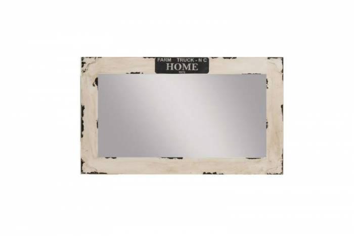 Oglindă din lemn de mango Indus, 70x3x120 cm, lemn, alb