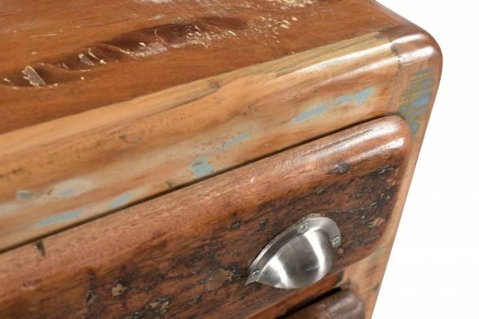 Pantofar dublu Old Boat, 90x40x85 cm, lemn, multicolor