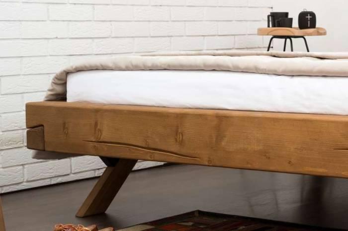 Pat din lemn Nova 140 x 200 cm, molid, natur