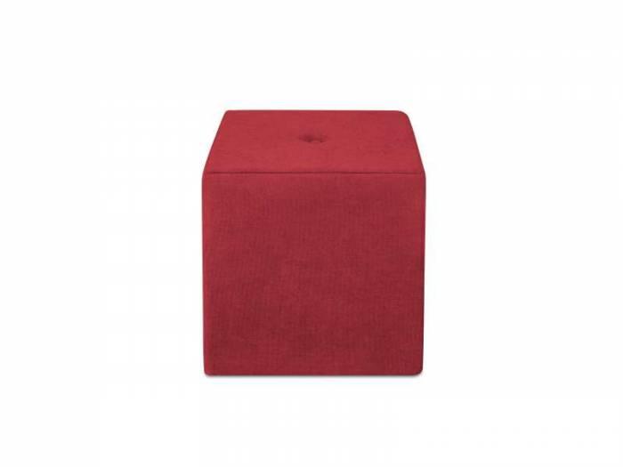 Puf Bounce, roșu, 40x40x45 cm