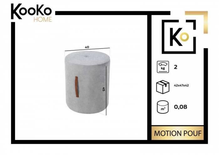 Puf Motion, gri, 40x40x45 cm