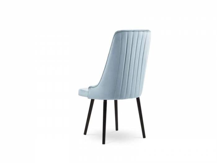 Scaun catifea Nicol, 100x65x54.5 cm, catifea/ lemn de fag/ lemn de pin/ placaj/ pal, albastru