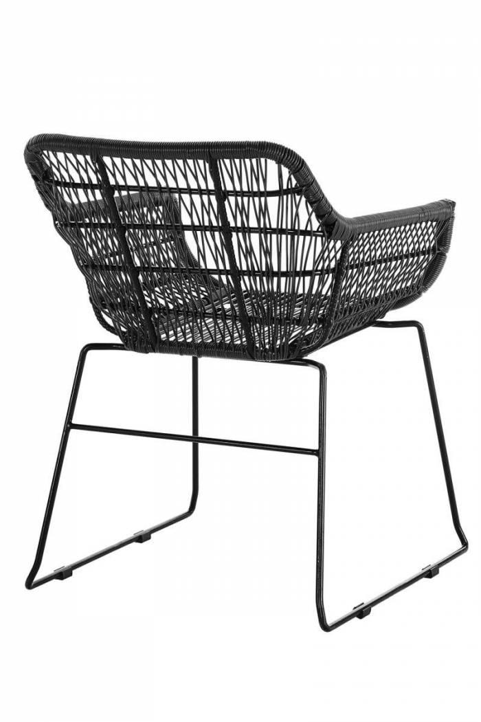 Set de 2 scaune de terasă Playa plastic/metal, gri închis