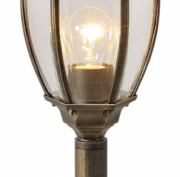 Stâlp de iluminat exterior negru Bailey, 122x21x18 cm, aluminiu/ sticla, negru
