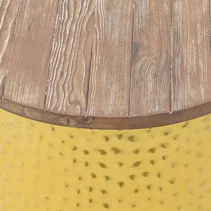 Taburet din metal și lemn Shavonne