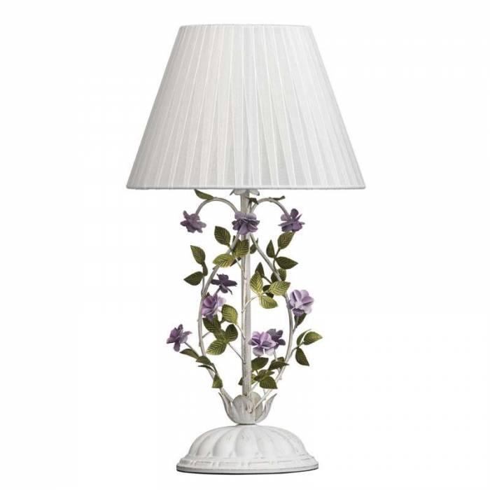 Veioză albă cu decor floral Cedronella