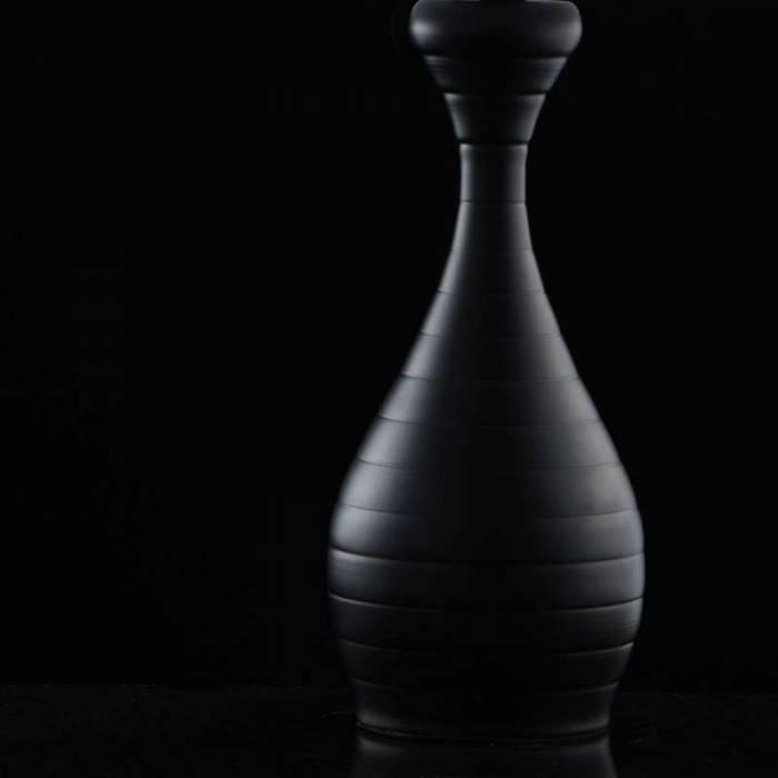 Veioză de masă Geneva, 56x33 cm, metal/ acril, negru