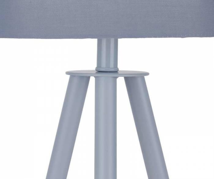 Veioză trepied Pacific, 55x30x30 cm, lemn/poliester, gri/bej
