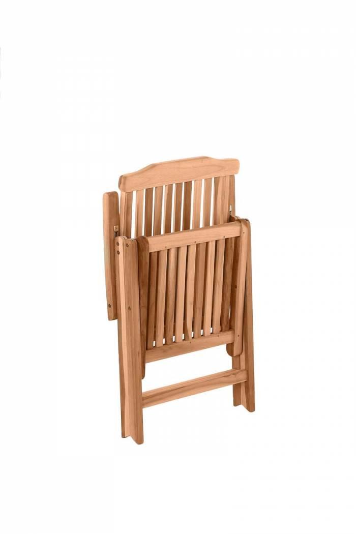 Scaun pliabil de grădină Gisele, 104x57x73 cm, lemn, bej