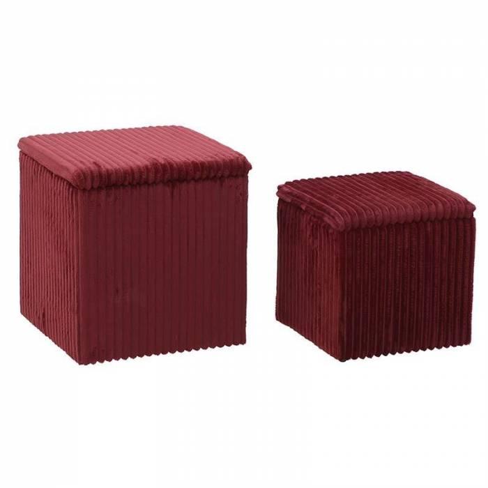 Set 2 taburete roșii Delphia