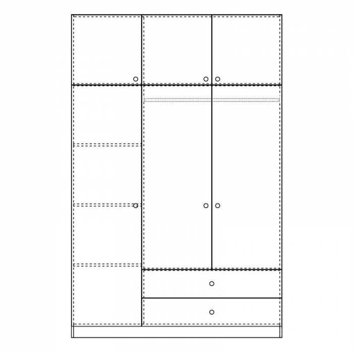 Șifonier cu 3 uși Royal