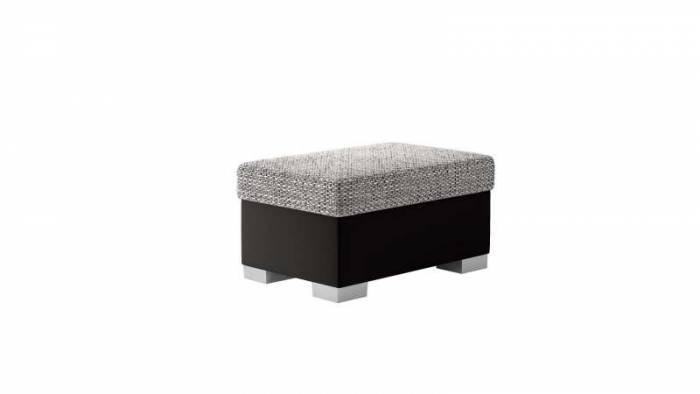 Taburet Lena R4 Black Grey, 40x55x85 cm, spuma/ lemn/ poliester/ plastic/ pvc, negru/ gri