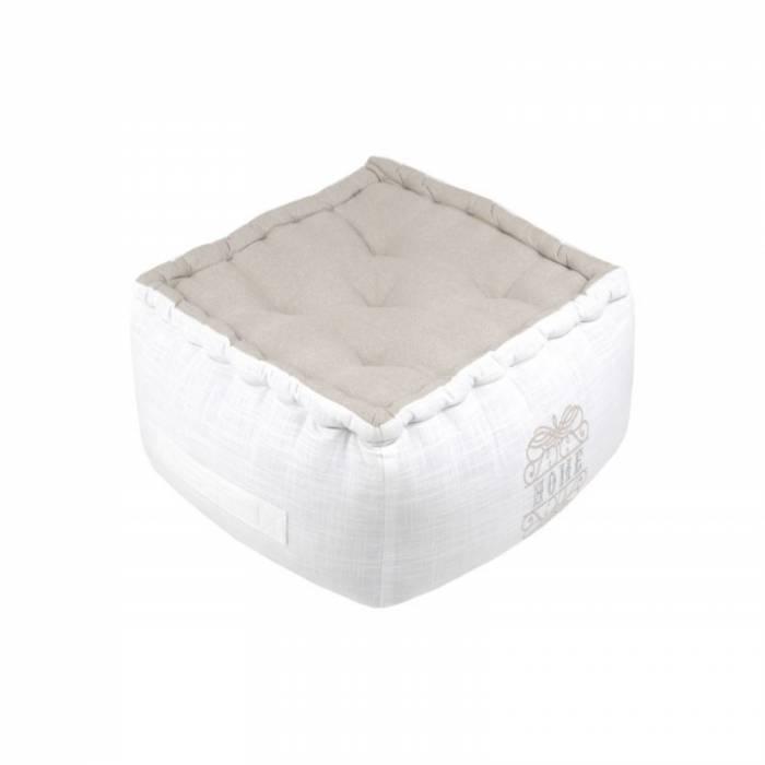 Pernă albă de podea Home Charline 40x40x30 cm