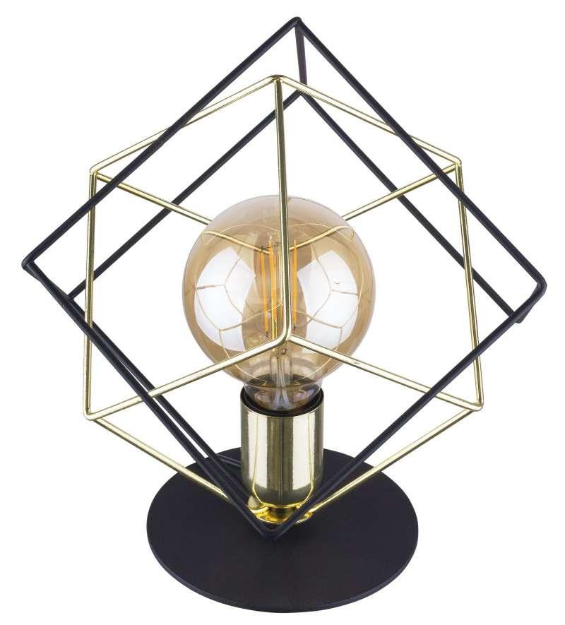 Veioză Truman 305x28x28 cm metal auriu/ negru