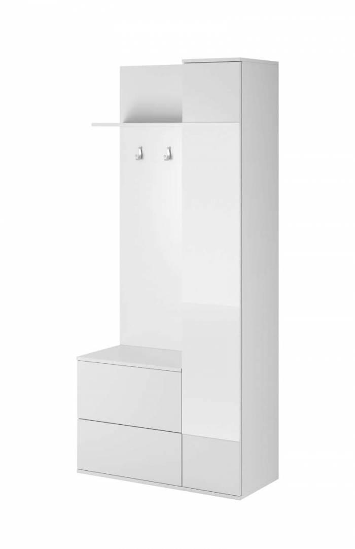 Cuier Ethyl, 195x90x34 cm, pal/ plastic, alb