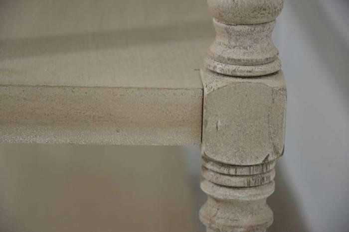 Consolă cu două rafturi Herman, 82x100x35 cm, lemn de plop/ mdf, bej