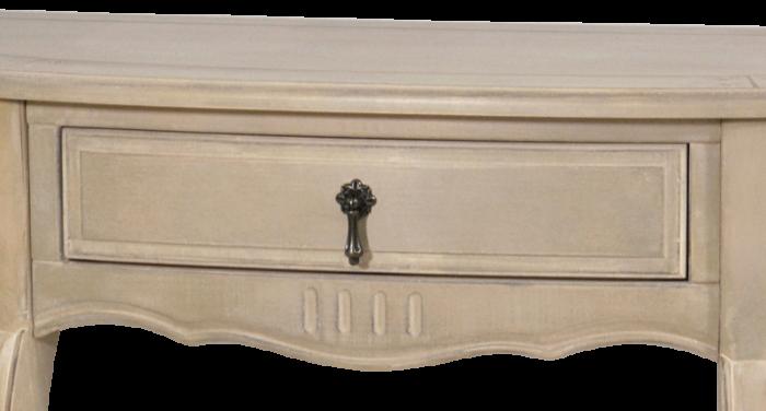 Consolă cu sertar Dominica , 86x108x42 cm, lemn de mesteacan/ metal, bej