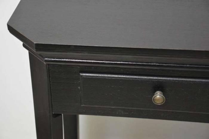 Consolă cu trei sertare și raft David , 80x128x40 cm, lemn de plop/ mdf, negru