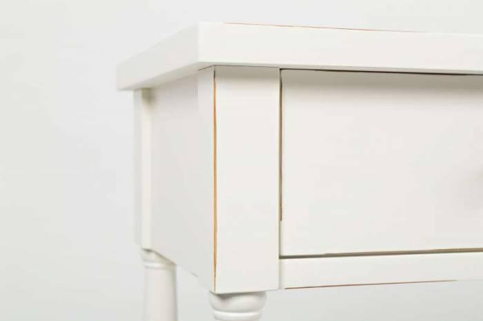 Consolă Karan, 87x152x36 cm, lemn masiv, alb