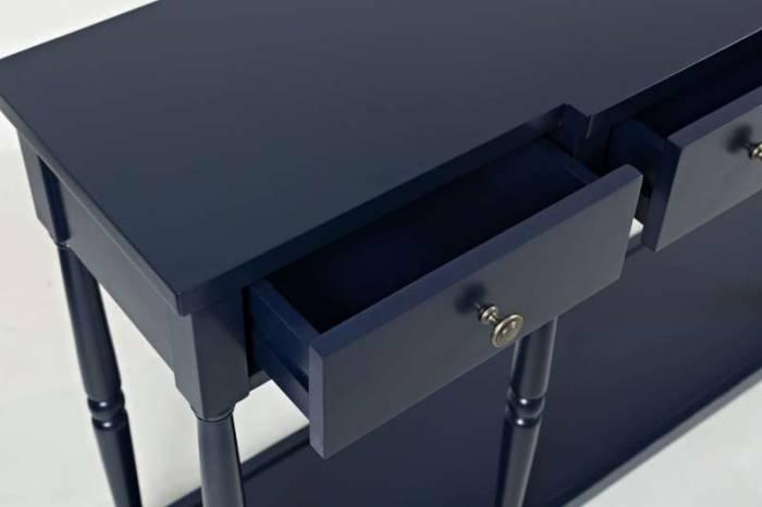Consolă Karan, 87x152x36 cm, lemn masiv, bleumarin