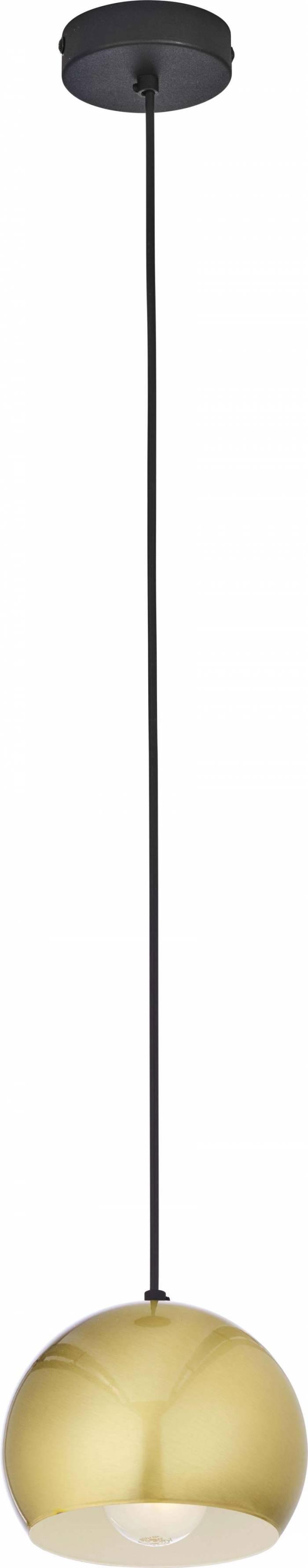 Lustră pendul Spencer, 105x17x17 cm, metal, auriu/ alb/ negru