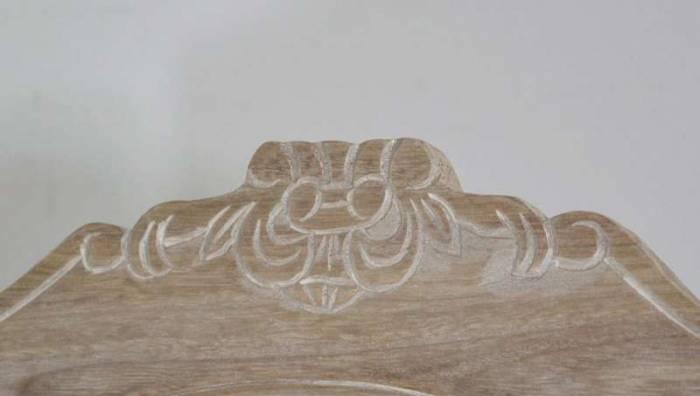 Oglindă de podea Jeraldine , 156x54x51 cm, lemn de plop/ mdf, crem/ maro deschis