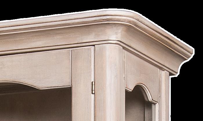 Vitrină cu ușă și sertar Dominica, 180x71x46 cm, lemn de mesteacan/ metal, bej