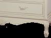 Comodă cu cinci sertare Jeraldine , 87x80x40 cm, lemn de plop/ mdf/ metal, crem/ maro deschis