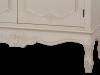 Comodă cu uși și sertare Jeraldine , 97x86x40 cm, lemn de plop/ mdf/ metal, crem/ maro deschis