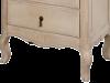 Comodă înaltă cu șase sertare Dominica, 116x66x45 cm, lemn de mesteacan/ metal, bej