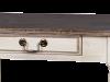 Consolă cu două sertare Ebonie, 76x120x40 cm, lemn de arbore de cauciuc/ furnir/ metal, ivoire/ maro