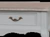 Consolă cu două sertare Gina , 80x90x40 cm, lemn de plop/ mdf/ metal, gri/ maro deschis