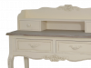 Consolă cu raft și patru sertare Jeraldine , 102x89x40 cm, lemn de plop/ mdf/ metal, crem/ maro deschis