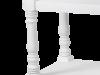 Consolă cu sertar și două rafturi Alexander, 80x97x35 cm, lemn de plop/ mdf/ metal, alb