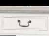 Consolă stil clasic cu două sertare Collin, 80x90x40 cm, lemn de plop/ mdf/ metal, alb/ maro