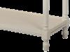 Consolă stil clasic cu patru sertare Adelaida, 78x122x41 cm, lemn de plop/ mdf/ metal, crem/ maro deschis
