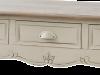 Consolă stil clasic cu trei sertare Adelaida, 78x110x40 cm, lemn de plop/ mdf/ metal, crem/ maro deschis