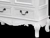 Vitrină cu două uși și două sertare Berenice , 156x76x35 cm, lemn de plop/ mdf/ metal/ sticla, alb/ maro