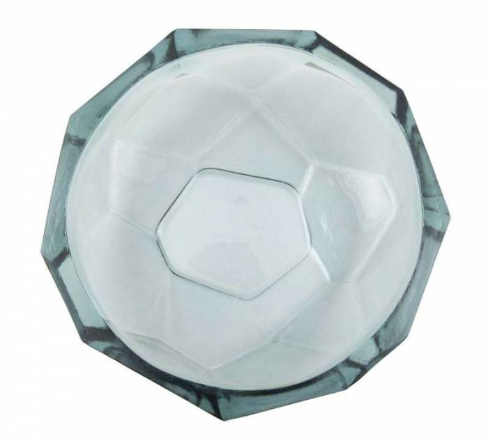 Bol Stone, 8x25x25 cm, sticla, gri
