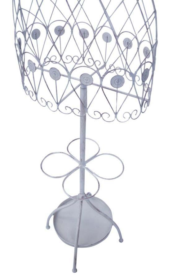 Cuier Bustino, 168x38.5x16 cm, metal,alb