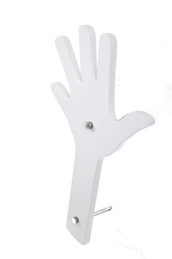 Cuier de perete Finger, 40x26x1 cm, mdf, alb