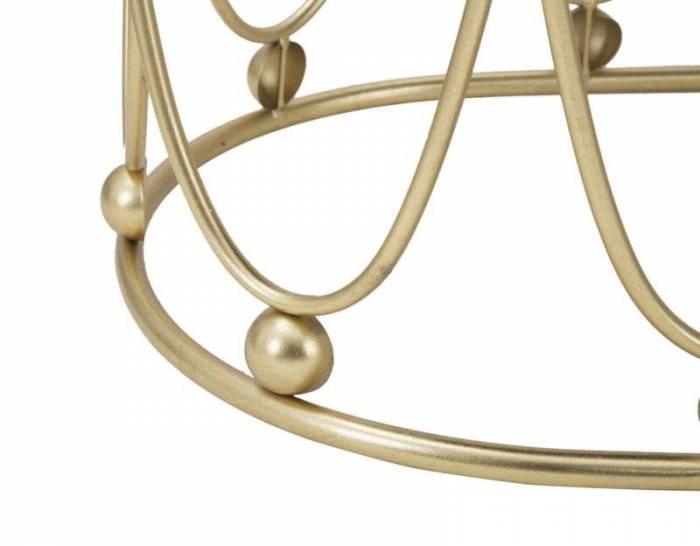 Banchetă Jess, 46x91.5x40.5 cm, metal/ poliester, bordo/ auriu