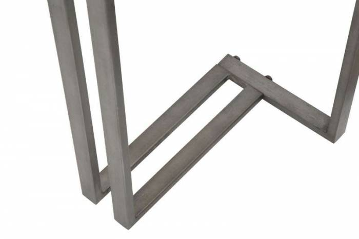 Consolă Lagertha, 76x120x34 cm, metal/ mdf, maro/ gri