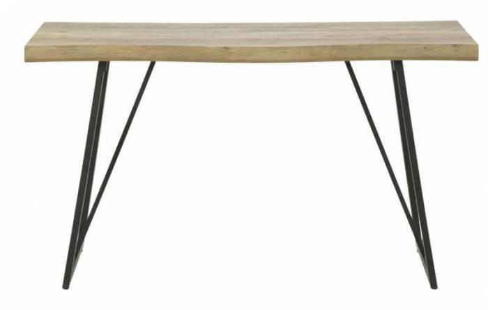 Consolă Suria, 76.5x130x45 cm, metal/ mdf, negru/ maro