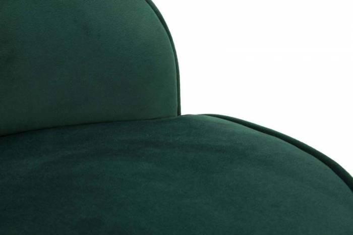 Taburet Josefa, 62x45x45 cm, lemn/ catifea, verde/ auriu/ negru