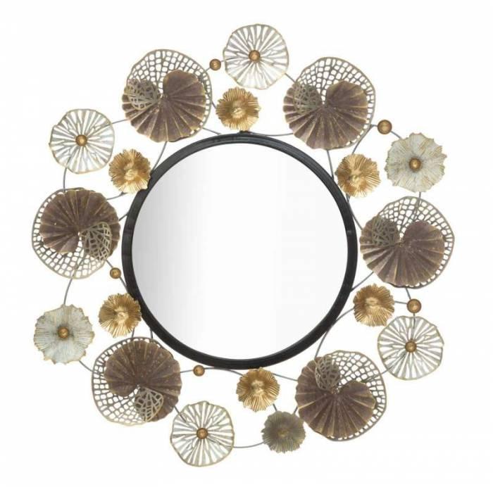 Oglindă de perete Circly, 73,5x71,5x4 cm, metal/ sticla, multicolor