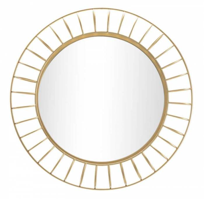 Oglindă de perete Glam, 81x81x8,9 cm, metal/ sticla, auriu