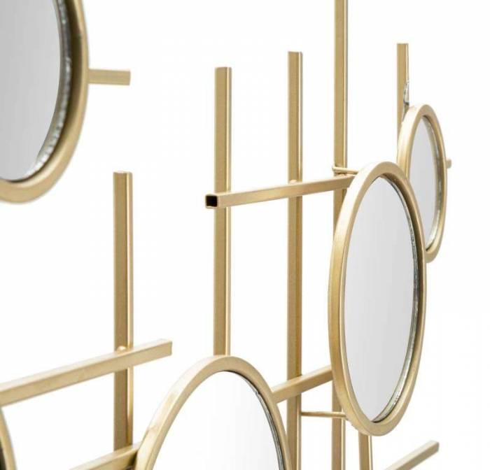 Oglindă de perete Gloxy, 61x117x4,5 cm, metal/ sticla, auriu