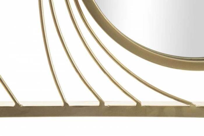 Oglindă de perete Infinity, 96,5x61x2 cm, metal/ sticla, auriu