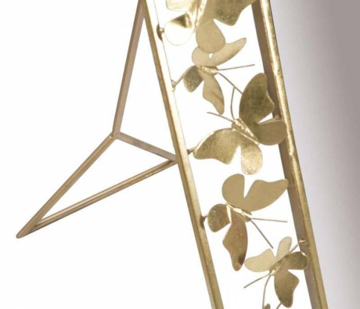 Oglindă de podea Butterfly Glam, 162x55x78 cm, metal/ mdf/ sticla, auriu